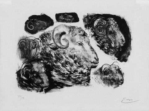 Pablo Picasso - Têtes de Béliers