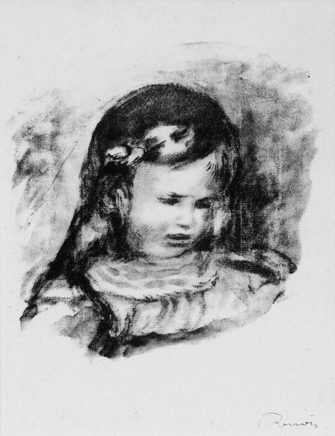 Pierre-Auguste Renoir - Claude Renoir, la Tête baissé