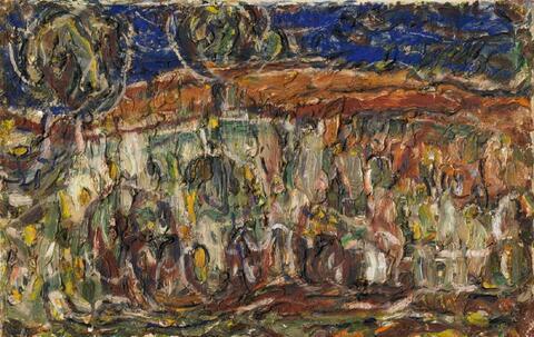 Christian Rohlfs - Landschaft mit Bäumen