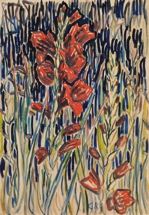 Christian Rohlfs - Gladiolen