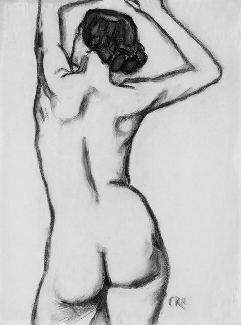 Christian Rohlfs - Weiblicher Rückenakt