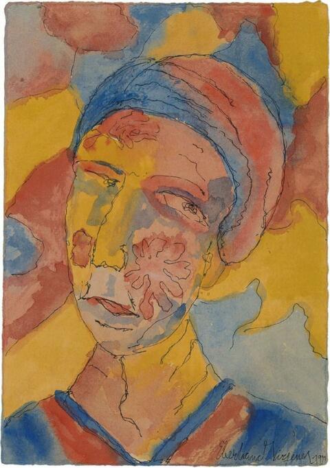 Eberhard Viegener - Weibliches Porträt