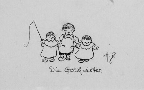 Heinrich Zille - Frau Direktor Berlin O. Die Geschwister