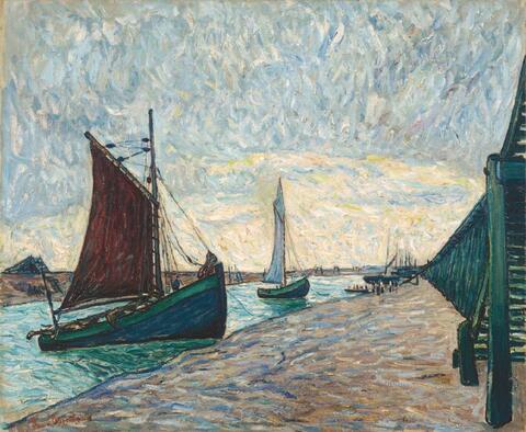 Theo von Brockhusen - Segelboote in Nieuport