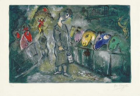 Marc Chagall - Die Fütterung der Zirkuspferde