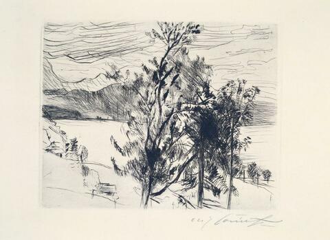 Lovis Corinth - Blick auf den Walchensee
