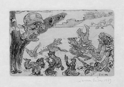 James Ensor - Le fantôme
