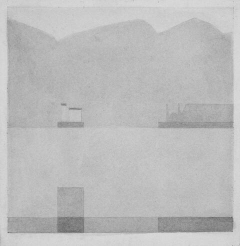 Antonio Calderara - Ohne Titel (Orta-See)