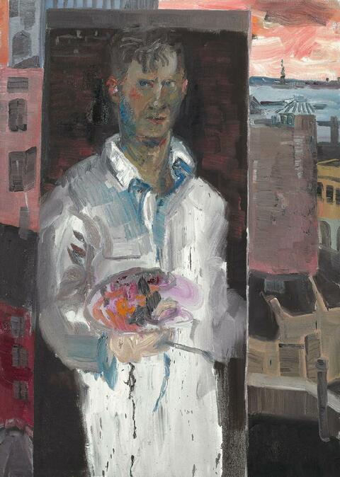Rainer Fetting - Selfportrait at Greenwich 8th