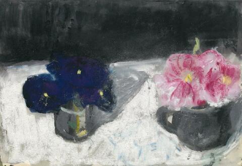 Klaus Fußmann - Ohne Titel (Zwei kleine Blumentöpfe)
