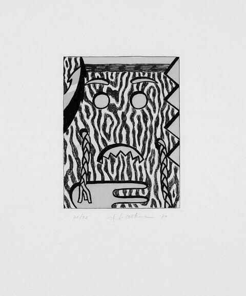 Roy Lichtenstein - Head with Braids
