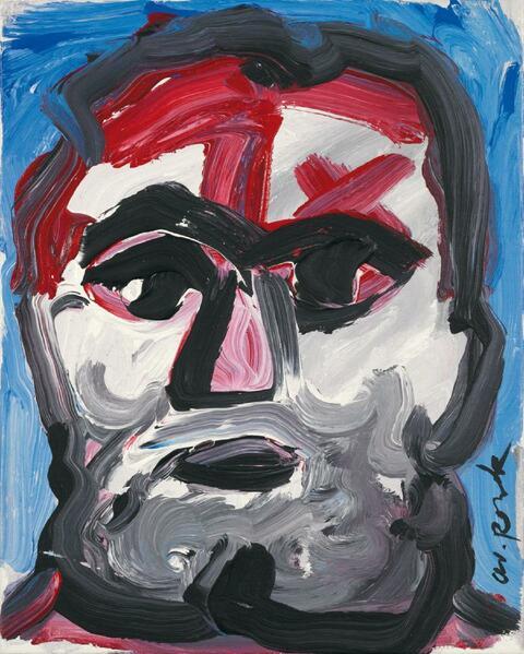 A.R. Penck - Ohne Titel (Selbstbildnis)