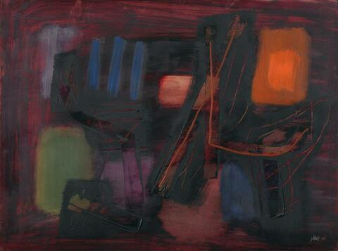 Fritz Winter - Komposition in Rot