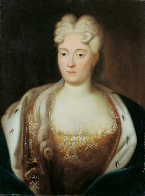 Süddeutscher Meister - FRANZISKA SIBYLLA AUGUSTA, MARKGRÄFIN VON BADEN-BADEN, PRINZESSIN VON SACHSEN-LAUENBURG ((1675-1733).