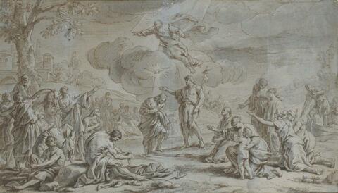 Französischer Meister - DIE TAUFE CHRISTI IM JORDAN.