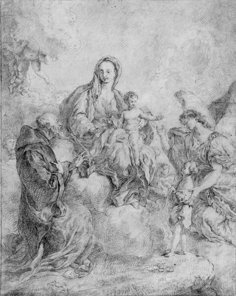 Giovanni Battista Pittoni, zugeschrieben - DIE MADONNA MIT DEM HL.
