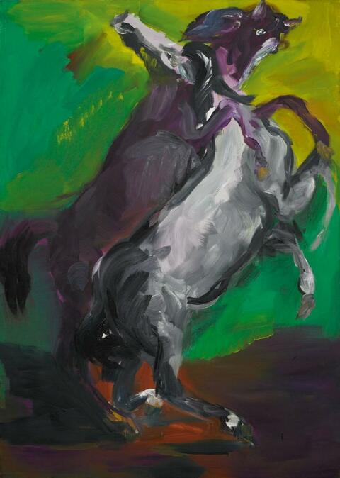 Rainer Fetting - 2 horses (Delacroix)