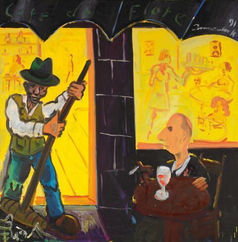 Jörg Immendorff - Café de Flore - Beuys und ich