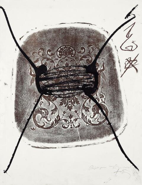 """Antoni Tàpies - Projet pour """"variation sur une chaise"""""""