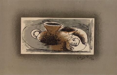 Georges Braque - Théière sur fond gris
