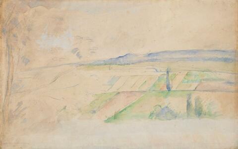 Paul Cézanne - Paysage (environs de Pontoise?)