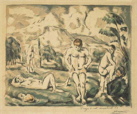 Paul Cézanne - Les Baigneurs, grande planche