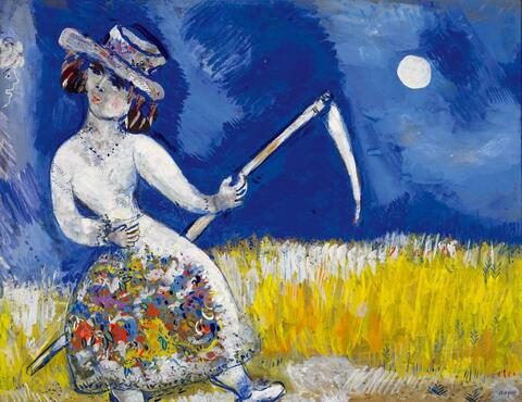 Marc Chagall - Die Mäherin