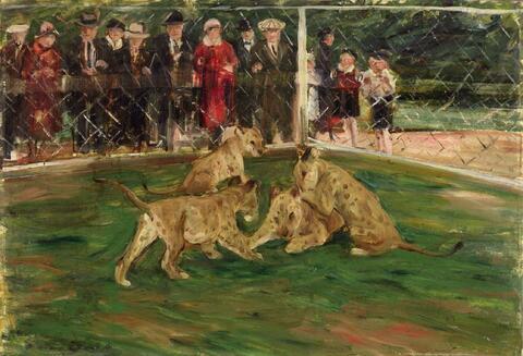 Otto Dill - Bei den jungen Löwen