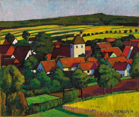 Adolf Erbslöh - Hessisches Dorf (Blick auf Wettesingen)