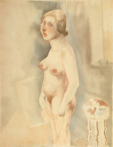 George Grosz - Stehender weiblicher Akt