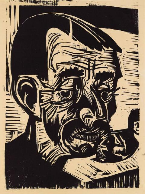 Ernst Ludwig Kirchner - Bauernkopf Andreas