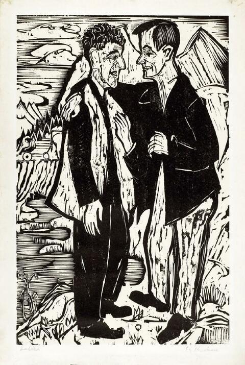 Ernst Ludwig Kirchner - Die Freunde (Müller und Scherer)