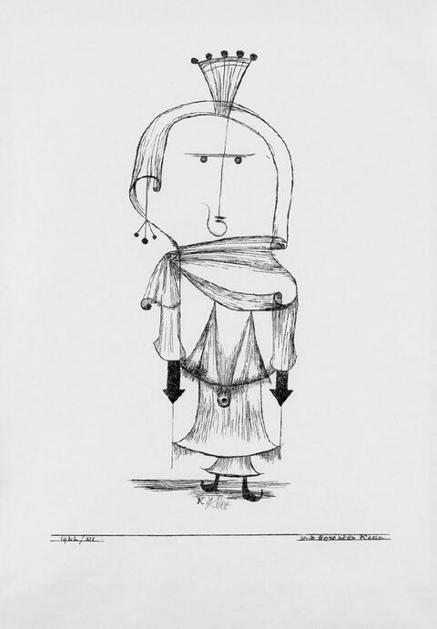Paul Klee - Die Hexe mit dem Kamm
