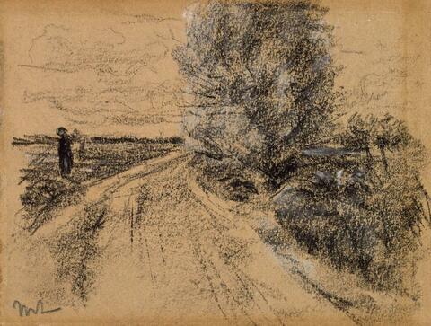 Max Liebermann - Baumbestandene Straße (vermutlich Holland)