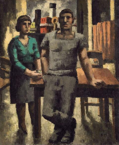 Frans Masereel - Débardeur et fille