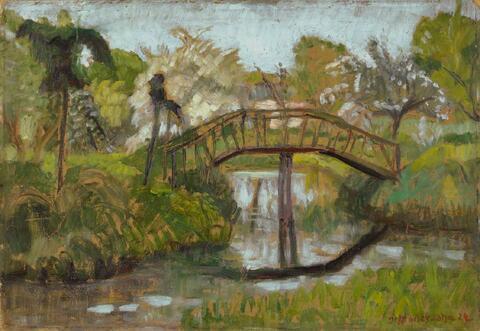 Otto Modersohn - Garten im Frühling