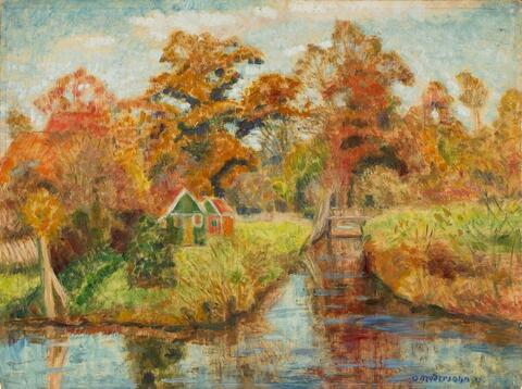 Otto Modersohn - Herbstliche Moorlandschaft