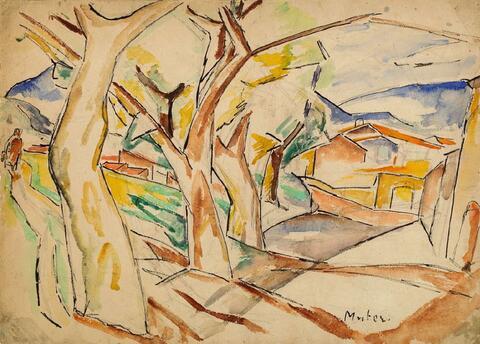 Mela Muter (Maria Melania Mutermilch) - Landschaft mit Bäumen