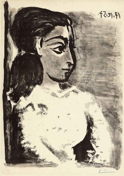 Pablo Picasso - Buste de Femme au corsage blanc