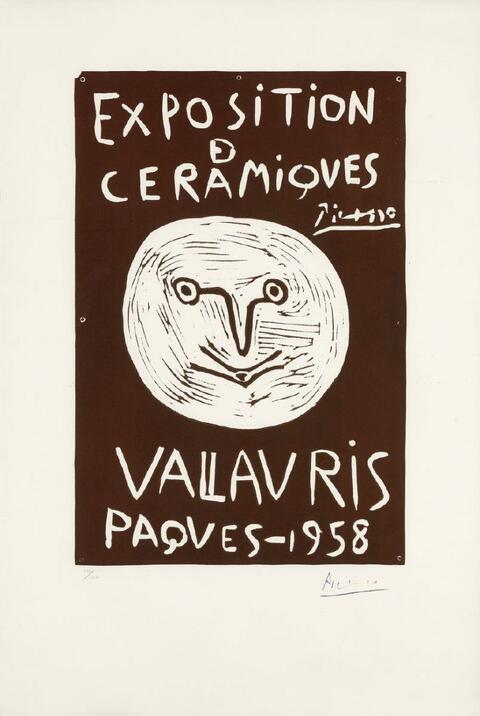 Pablo Picasso - Exposition Céramiques Vallauris, Paques - 1958
