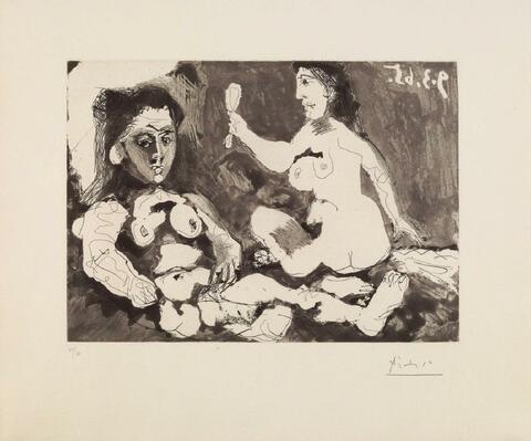 Pablo Picasso - Femmes à leur toilette II