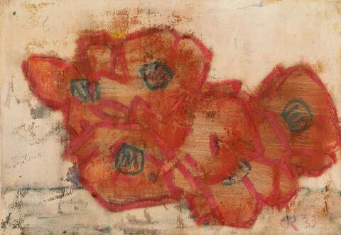 Christian Rohlfs - Rote Blüten