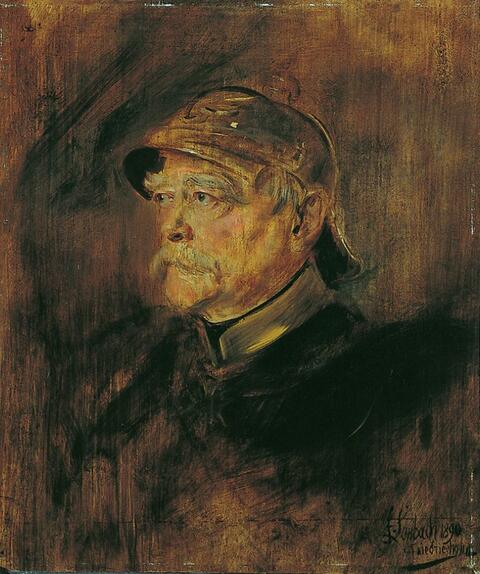 Franz Seraph von Lenbach - BILDNIS OTTO VON BISMARCKS.