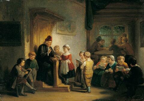 Henricus Engelbertus Reyntjens - UNTERRICHT IN DER DORFSCHULE.