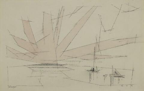 Lyonel Feininger - Ohne Titel (Fan-shaped Cloud)