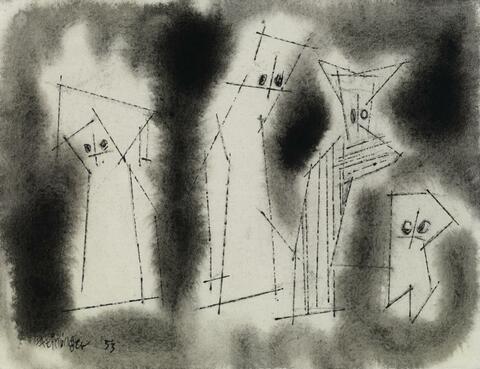 "Lyonel Feininger - Vier groteske Figuren (""ghosties"")"