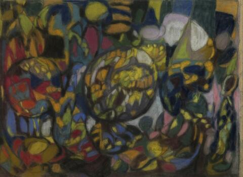 Adolf Hölzel - Komposition mit Kreisbildung
