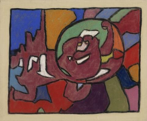 Adolf Hölzel - Abstrakte Komposition mit Kreisform