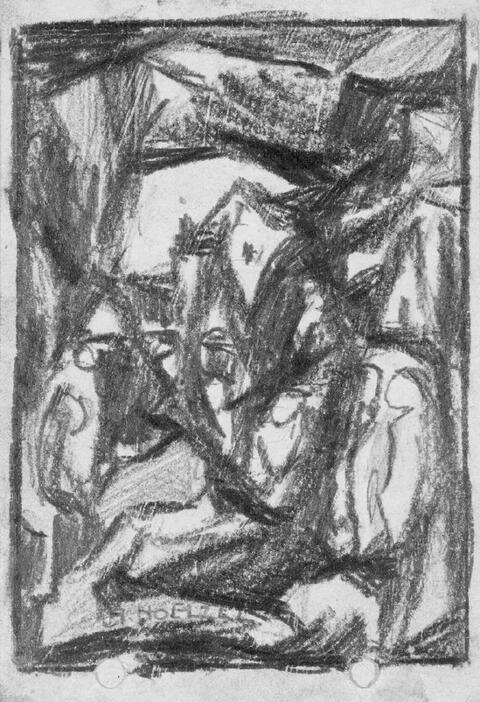 Adolf Hölzel - Bildentwürfe (Figürliche Kompositionen)