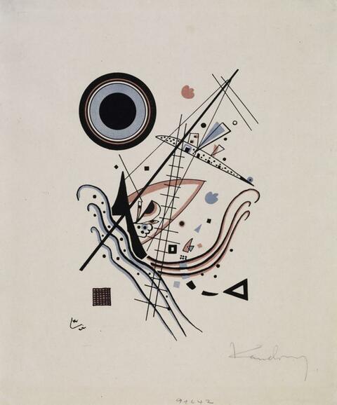 Wassily Kandinsky - Lithographie Blau
